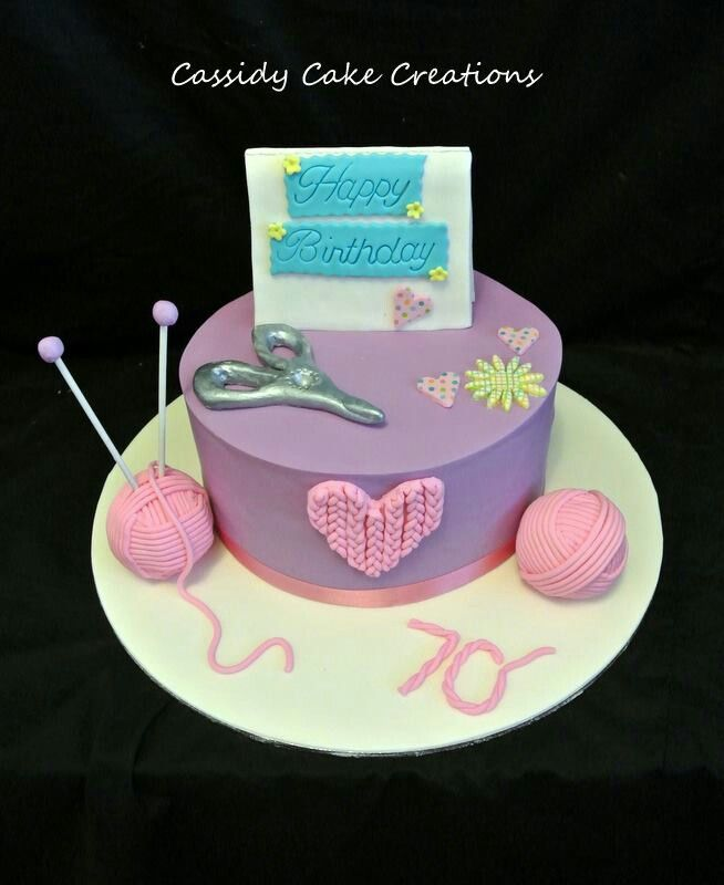 Happy Birthday Knitting Cake : A knitting and card making themed th birthday cake my