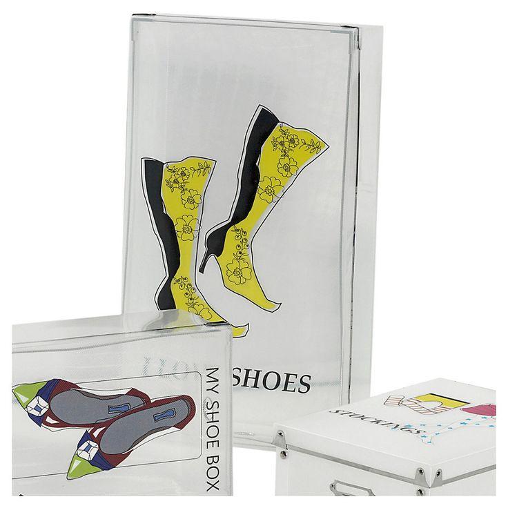 Guarda y cuida tus zapatos con estas prácticas cajas plásticas. ¡Mira la de botas amarillas!Encuéntrala enHomy.cl