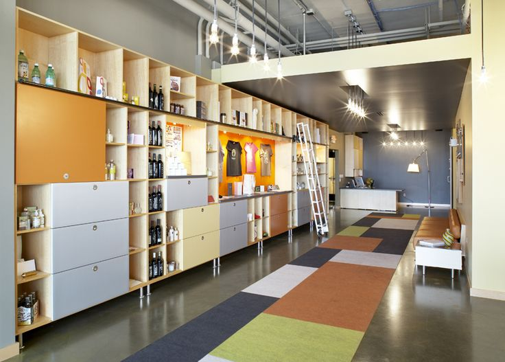 cool cubby/shelving ideas. i like the libraryesque ladder.