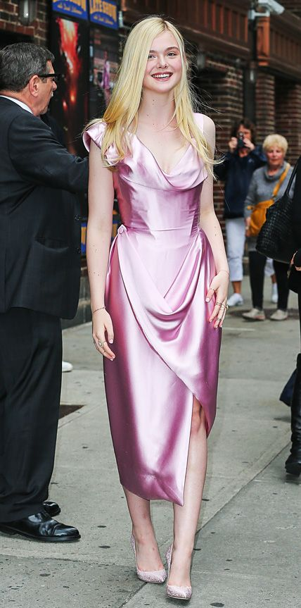 Elle Fanning in Vivienne Westwood. #LOTD