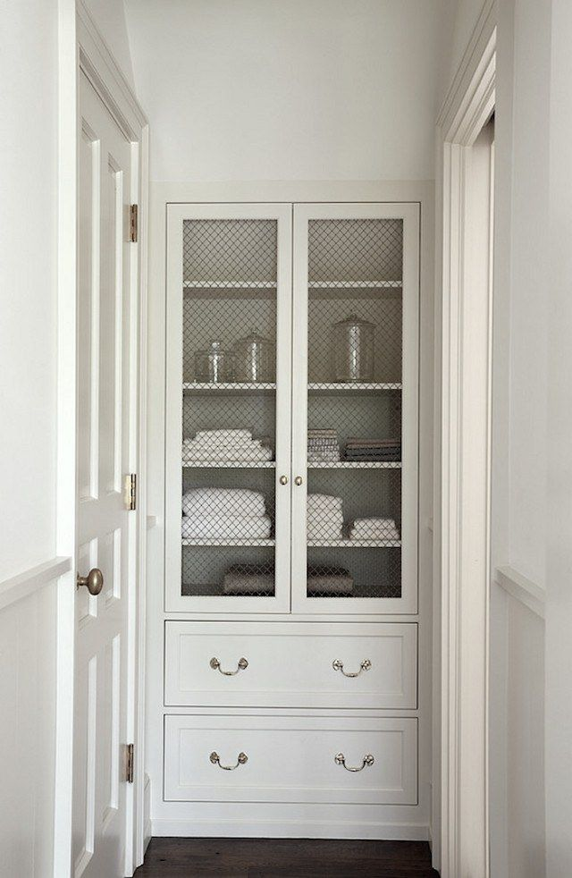 Finding Bathroom Storage For A Small Difficult Bathroom - option for removing small linen closet door