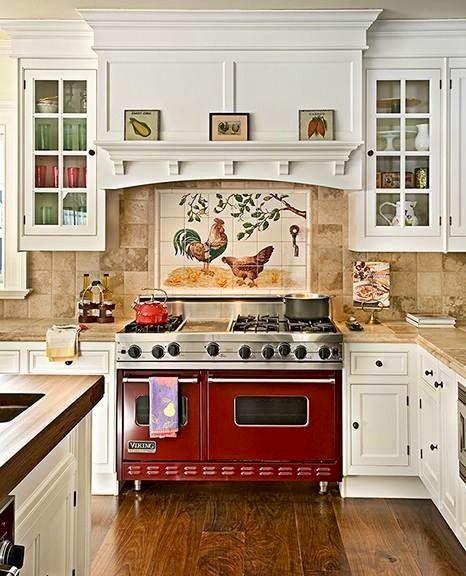 mijn keuken nu nog iemand vinden die de hanen kan schilderen