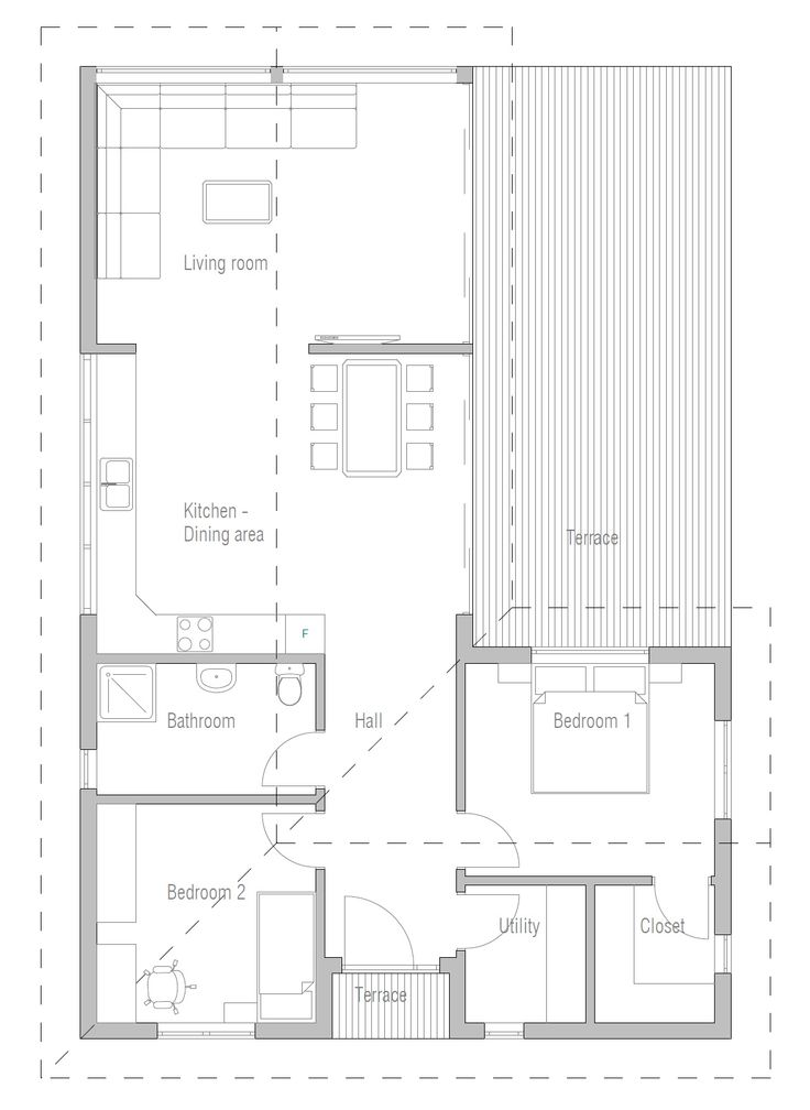 33 best images about two bedroom house plans on pinterest for Small expandable house plans