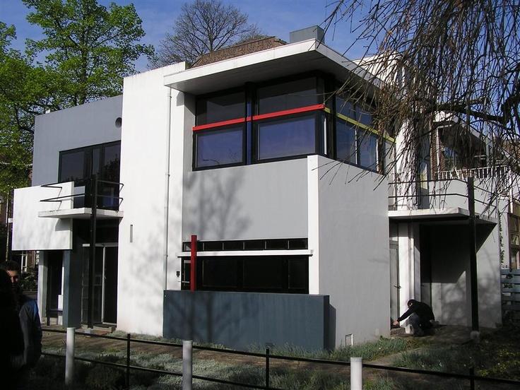 Maison schroder par rietveld utrecht de stijl pinterest utrecht et de stijl - Stijl des maisons ...