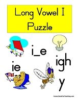 Long Vowel I Puzzle Word List: Bike, Bride, Cry, Dime, Dive, Fire, Five, Fly, Hike, Hive, Ice, Kite, Knight, Light, Night, Nine, Pie, Sky, Tie, Time, Tire