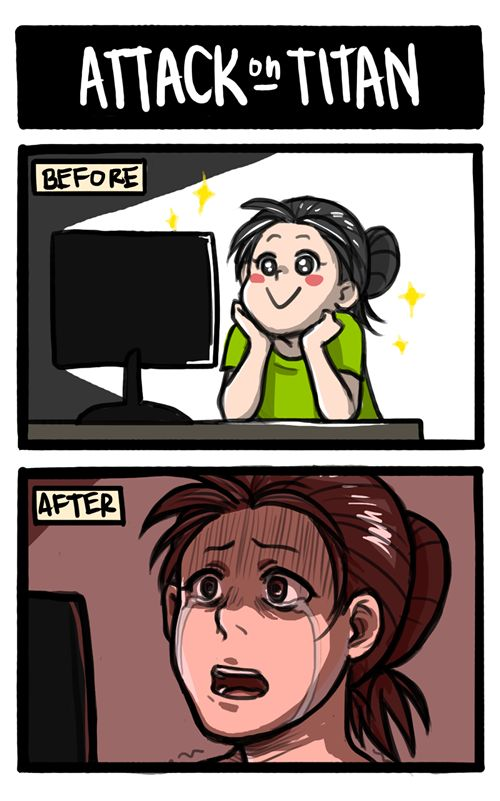 Attack on Titan: Before and After by nranola.deviantart.com on @deviantART