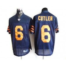 Bears #6 Jay Cutler Blue/Orange 1940s Throwback Stitched NFL Jersey