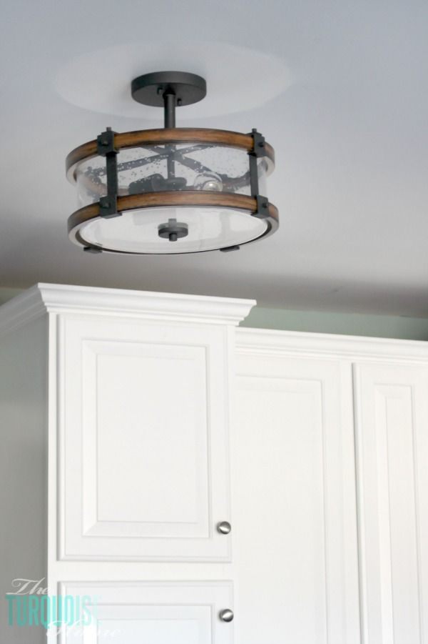 New Kitchen Lighting {farmhouse style