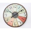 Our lovely 'Paris' multicoloured clock - £68