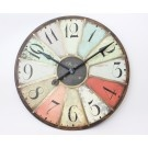 Our lovely 'Paris' multicoloured clock - £68