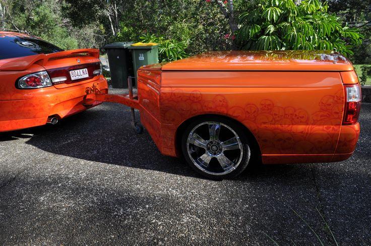 Commodore ute back trailer.