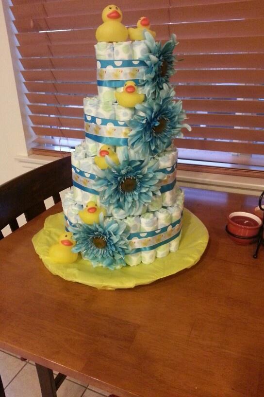 Rubber Ducky Diaper Cake