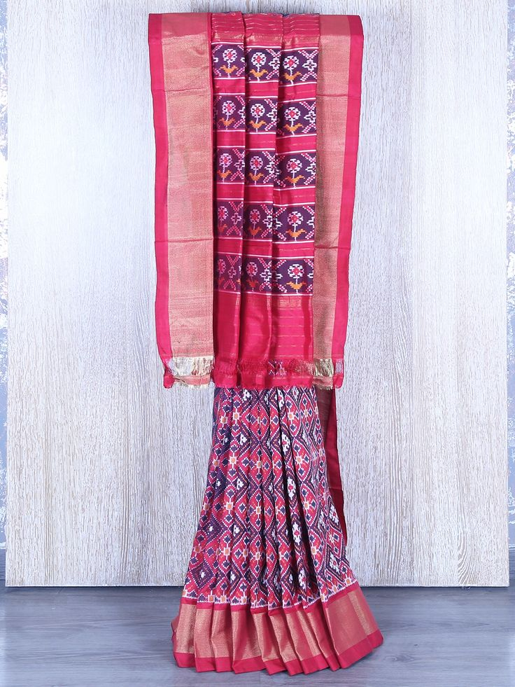 Maroon Wedding Patola Silk Saree