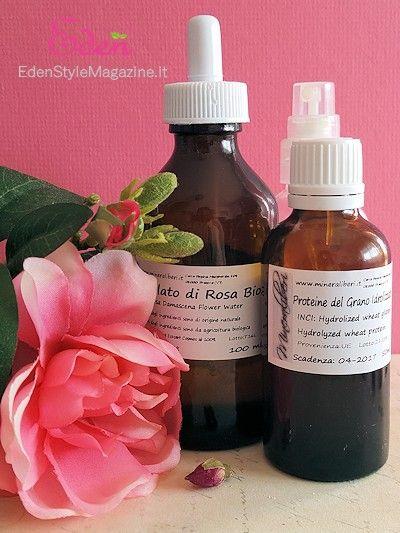 acqua profumata capelli anti crespo rose