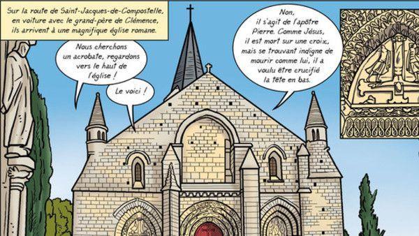 Le père Olivier Manaud vient de publier une BD pour enfants (à partir de 8 ans), dont l'histoire se situe sur les chemins de Saint-Jacques. Il a accepté de répondre à nos questions. (voir la suite de l'article ici) Source : http://www.pelerin.com/