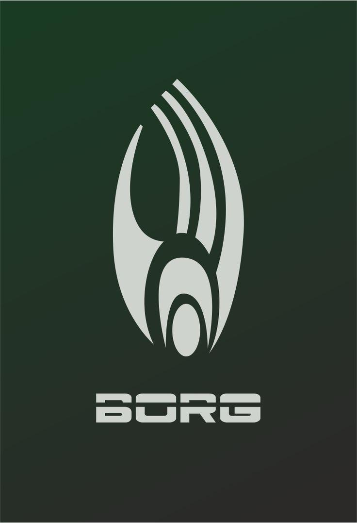 Star Trek Logo Borg Flat Design