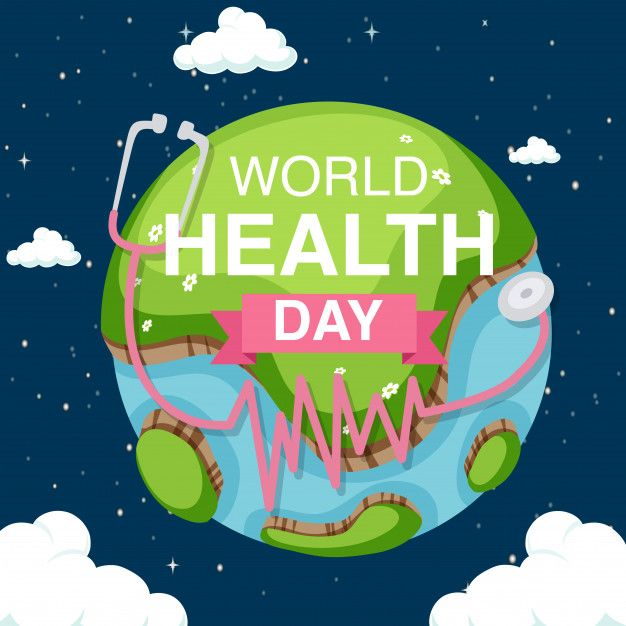 Download Poster Design For World Health Day With Earth In The Sky Background For Free World Health Day World Cancer Day Health Day
