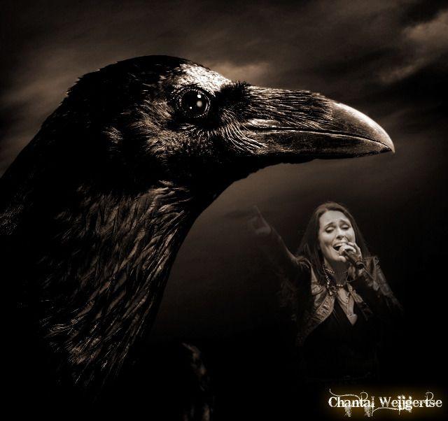 Sharon met vogel