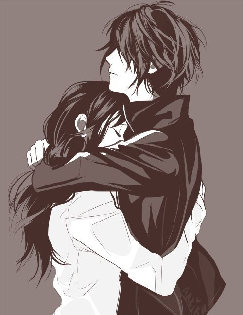 Yato & Hiyori. Don't know if it's official art, but whatever. I'll still love them as a couple.: