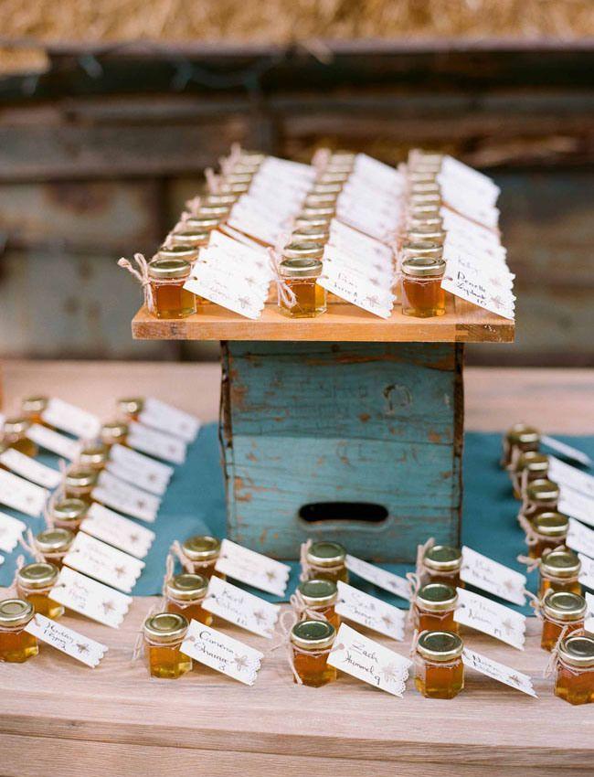 Mariage: DIY escort card / cadeau d'invité miel - Happy Chantilly