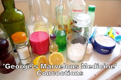 Georges-Marvellous-Medicine-Concoctions - marvellous messy play