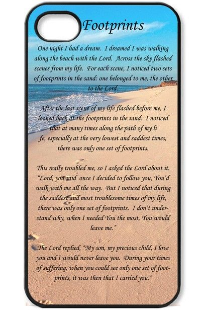 Footprints Iphone 4 Case Christian Cell Phone Cases