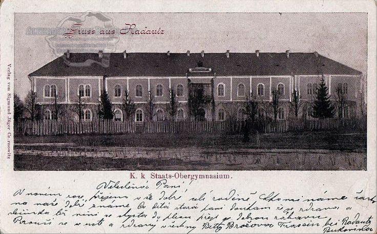 Rădăuţi. Plasa Ştefan Vodă. Oraşul Rădăuţi. Școala Superioară. 1898
