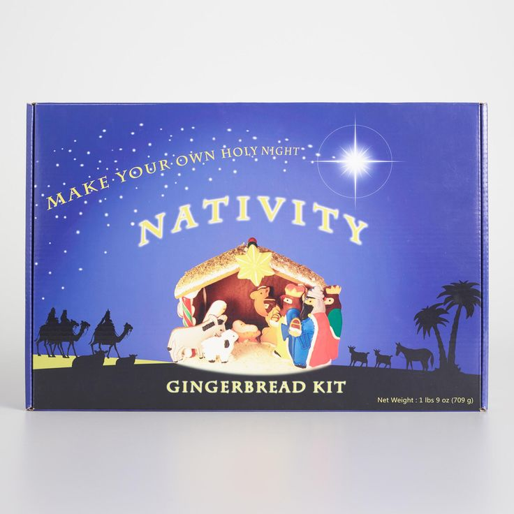 166 best the sweetest gift dec 2017 images on pinterest our adorable do it yourself gingerbread nativity kit blends two fun and festive activities solutioingenieria Image collections