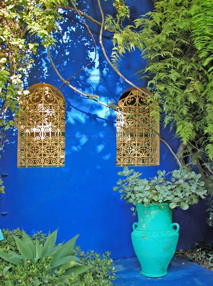 Jardin Majorelle, created in the 1920s by French painter Louis Majorelle and later owned by Yves Saint Laurent
