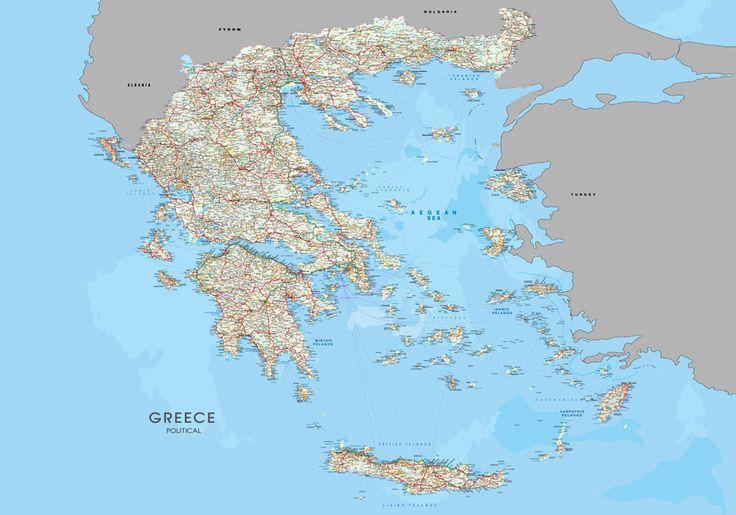 Προσφορά χάρτης Ελλάδας οδικός λεπτομερειακός σε Foam Board 70Χ100 τιμή προσφοράς 35 ευρώ.