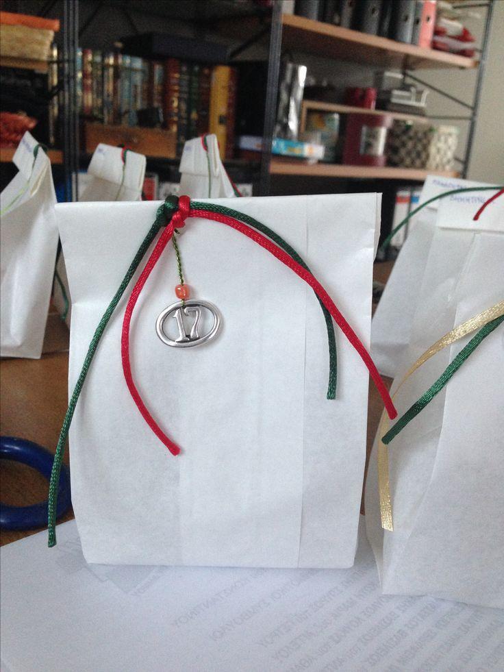 Γούρια 2017. Συσκευασία Little Gift Bag Twenty seventeen