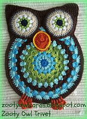 I made these Owls as Trivets - but they will make great placemats, or wall hangings, or mats