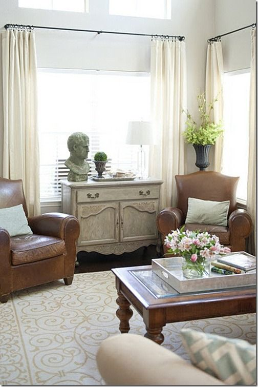 I love having a small sitting area in the master bedroom.  Perfect place to unwind at the end of a long day
