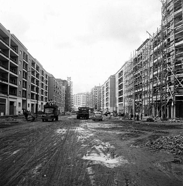 Avenida João XXI em construção, 1950 (Direção ponte), Judah Benoliel