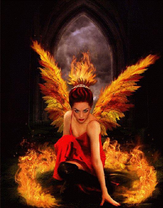 российский анимационные картинки ангел в огне осколки
