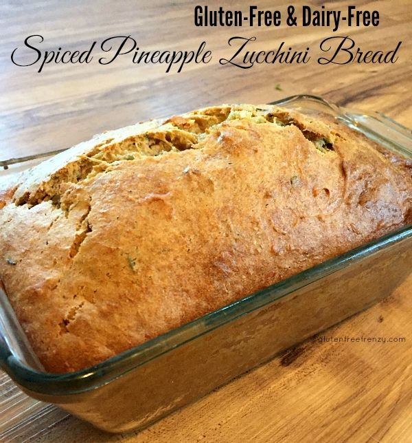 Yummy, moist gluten-free, dairy-free spiced pineapple zucchini bread with Namaste Foods new perfect flour blend. Check out more & win.