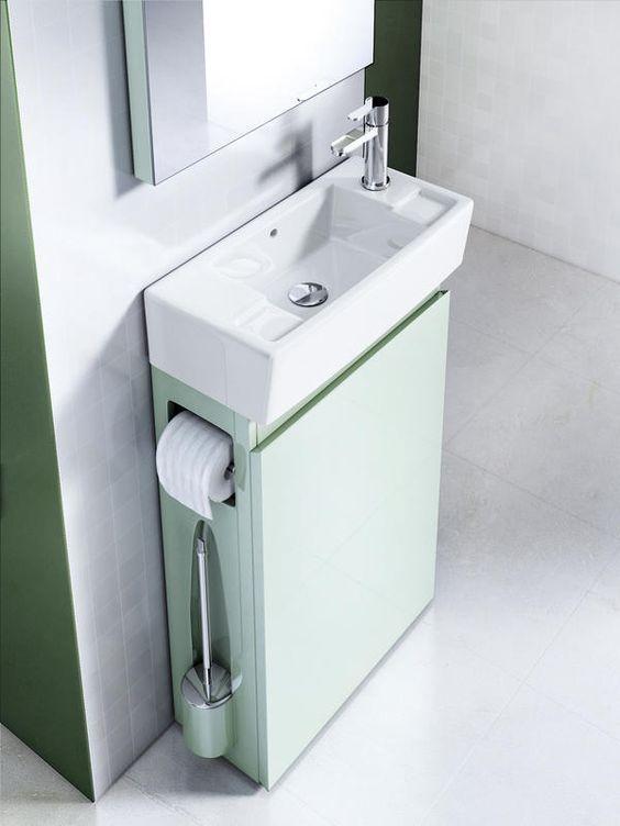 17 mejores ideas sobre peque os lavabos en pinterest for Almacenamiento para banos pequenos