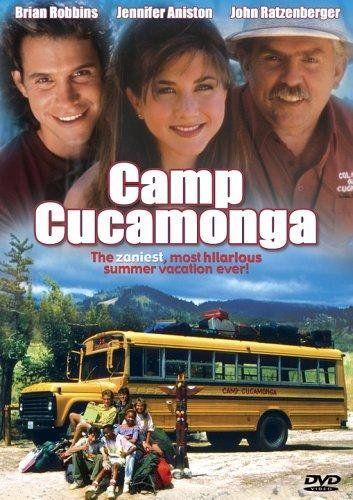 Camp Cucamonga (1990). 93 mins. Starring: John Ratzenberger, Chad Allen, Jennifer Aniston, Candace Cameron, Dorothy Lyman, Danica McKeller, Brian Robbins, Josh Saviano, Jaleel White, G. Gordon Liddy and Sherman Hemsley
