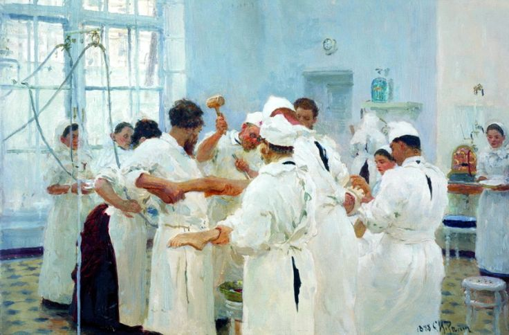 Ilya Repin - Pavlov in the operating room. 200 Russian painters • download painting • Gallerix.ru