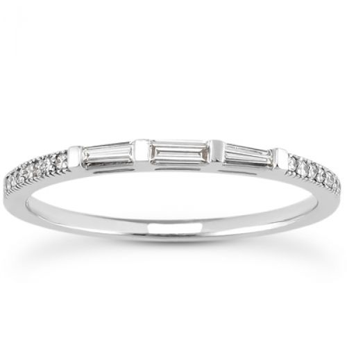 wedding band with baguettes | All Original Certification & Documentation Free Overnight Insured ...