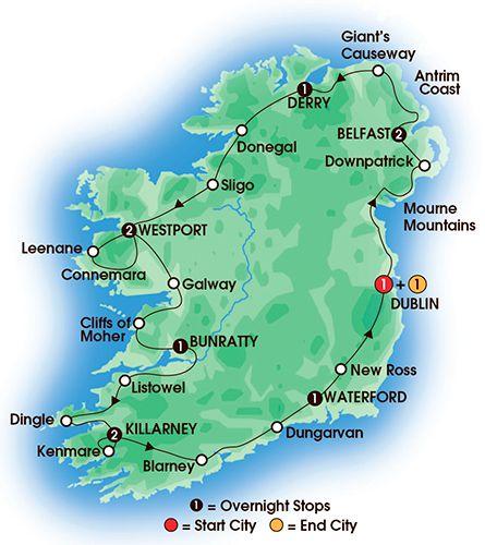 Irish Classic 12 Day Tour