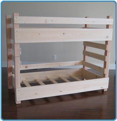 Kids Toddler Bunk Beds (Regular fits a Crib Size Mattress; Extended fits IKEA's extended Crib Size Mattress)