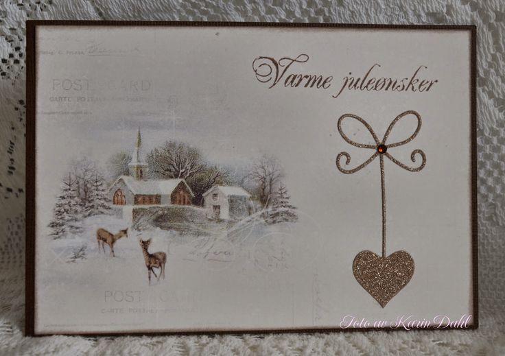Karins-kortemakeri: Julekort 8, 9 og 10