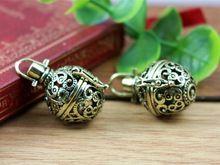 1 шт. 21 x 32 мм античная бронзовые медальоны филигрань лаки волшебный ящик старинное серебро медальон шарм подвески(China (Mainland))