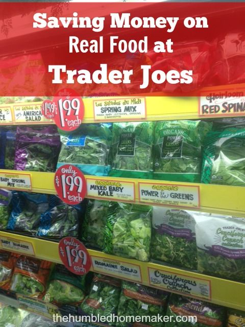 I love Trader Joe's! There are many real food items that are always a great deal at Trader Joe's! Here's a list, plus tips for saving money on healthy food at TJ's.