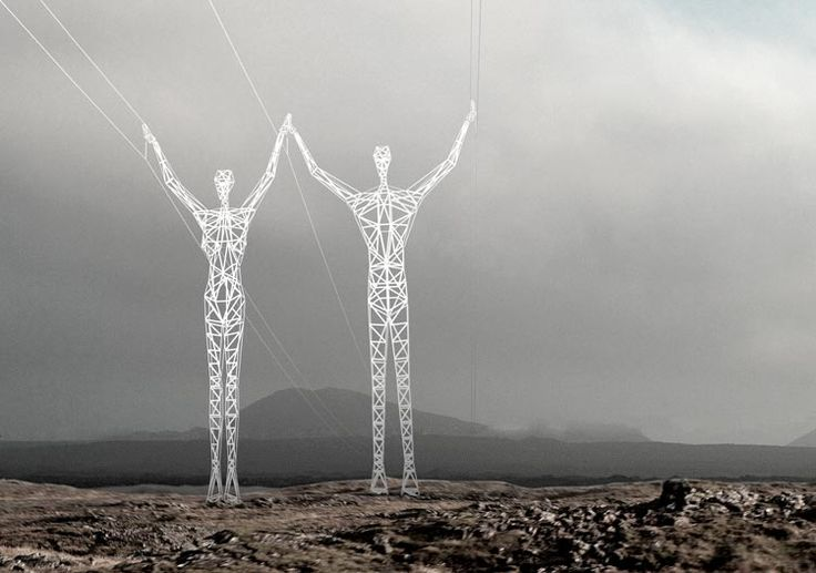 Icelandic Design Competition -Redesigned Electric Tower Pylons