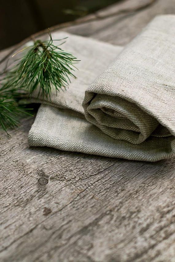 Natural linen towels made from undyed heavy linen, perfect gift for men linen towel. You can use it in your shower, bath, in sauna.  Its so charmingly rustic and perfect to let the newly washed crockery dry... #wabisabi #linen #towels #throw #rustic #naturallinen #organic