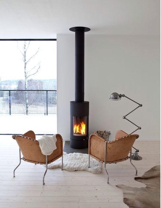 Like the two chairs by the wood stove!