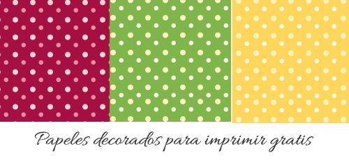 Papel decorado con puntos para un formato hoja con cada papel de color con - Papeles para decorar ...