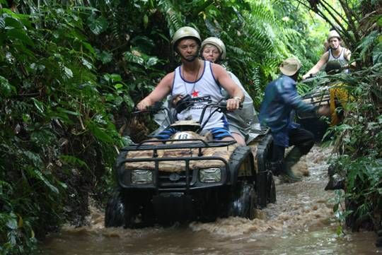 Join Bali Quad Bike Adventure with us test your adrenaline by following our populer activities discover the rural landscapes by using four quad bike. Accompanied by Bali professional tour guide with long trip more than 2.5 hours and you can see the wonderful rural  atmosphere directly.